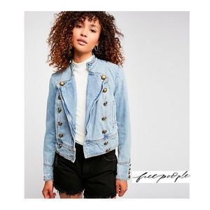 NWT Free People Ferry Denim Jacket Majorette